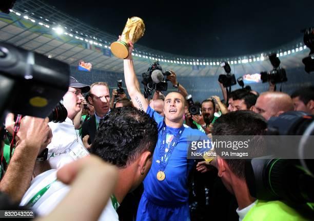 Italy's Fabio Cannavaro with the trophy