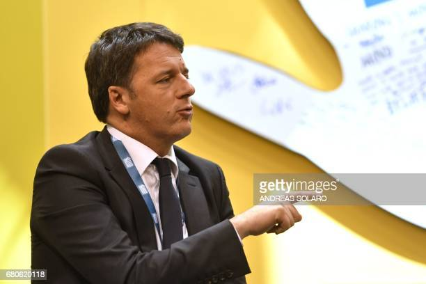 Italy's former Prime Minister and general secretary of the Democratic Party Matteo Renzi attends the third edition of 'Seed Chips The Global Food...