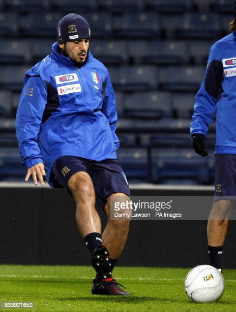 Italy's Gennaro Gattuso during a training session at Hampden Park Glasgow
