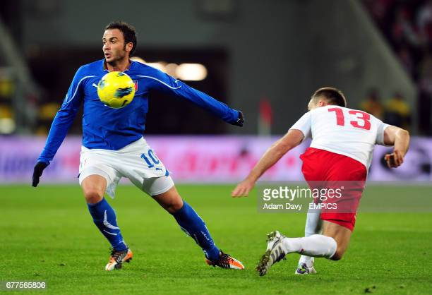 Italy's Giampaolo Pazzini in action