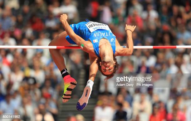 Italy's Gianmarco Tamberi competes in the Men's High Jump Qualifying during day eight of the 2017 IAAF World Championships at the London Stadium