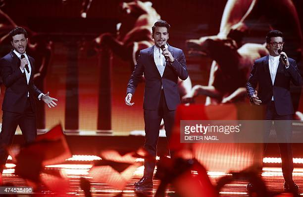 Italy's Il Volo performs during the Eurovision Song Contest final on May 23 2015 in Vienna AFP PHOTO / DIETER NAGL