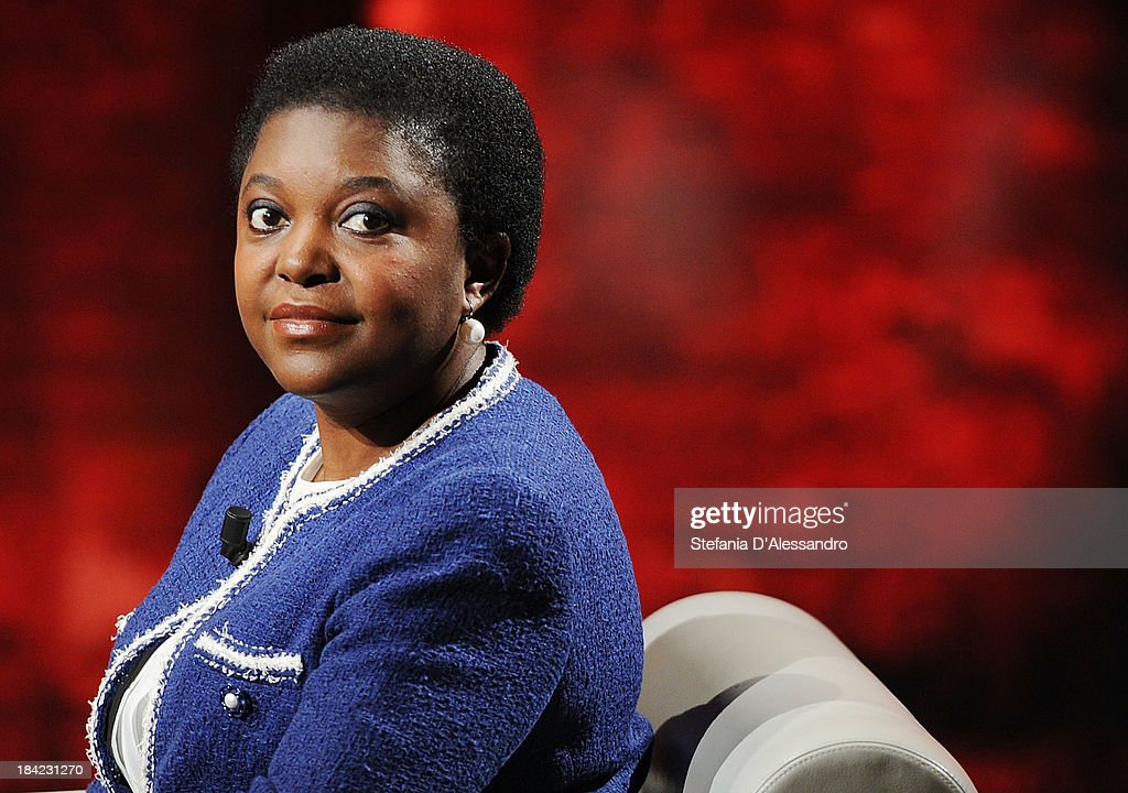 Italy's Integration Minister Cecile Kyenge attends 'Che Tempo Che Fa' TV Show on October 12, 2013 in Milan, Italy.