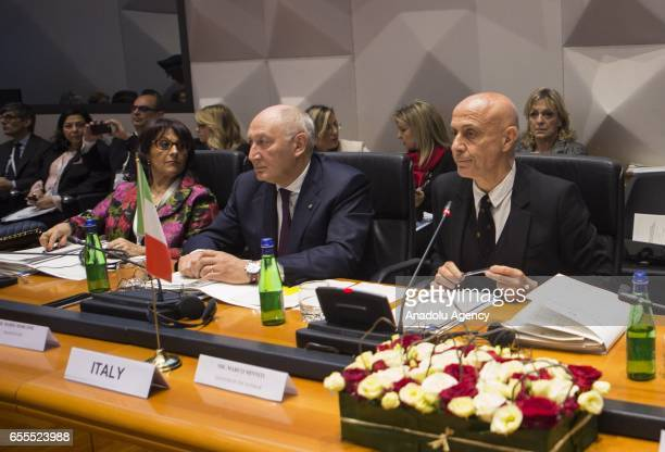 Italy's Interior Minister Marco Minniti attends the meeting of the central Mediterranean contact group on immigration in Rome Italy on March 20 2017