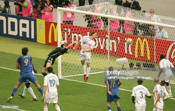Italy's Marco Materazzi scores an equalizer