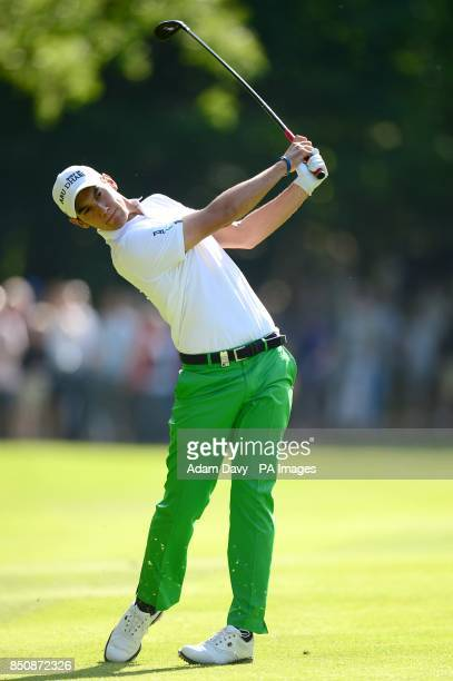 Italy's Matteo Manassero during day four of the BMW PGA Championship at the Wentworth Club Surrey