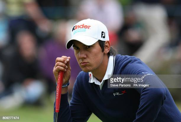 Italy's Matteo Manassero during the fourth round of the the BMW PGA Championship at Wentworth Golf Club Surrey