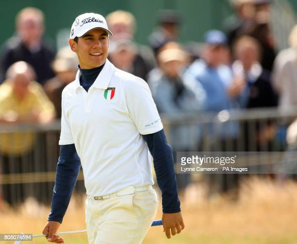 Italy's Matteo Manassero during the second round of the Open Championship 2009 at Turnberry Golf Club Ayrshire