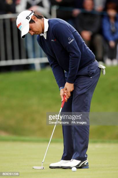 Italy's Matteo Manassero during the second round of the the BMW PGA Championship at Wentworth Golf Club Surrey