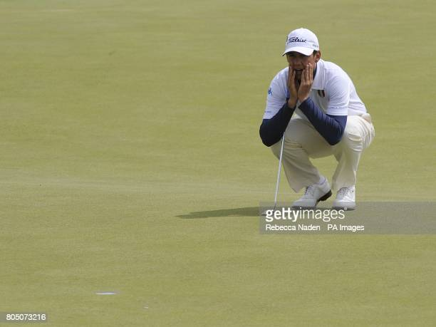 Italy's Matteo Manassero during the third day of the Open Championship at Turnberry Golf Club