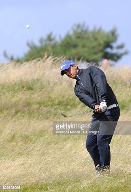 Italy's Matteo Manassero in action during the fourth day of the Open Championship at Turnberry Golf Club