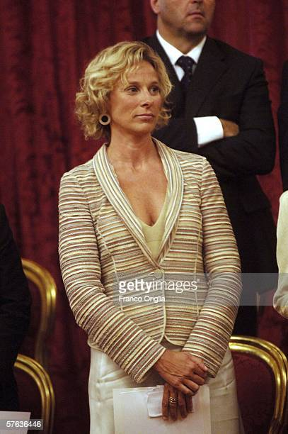 Italy's new minister of the Sport Giovanna Melandri attends the swearing in ceremony of the Romano Prodi's new Government at the Quirinale...