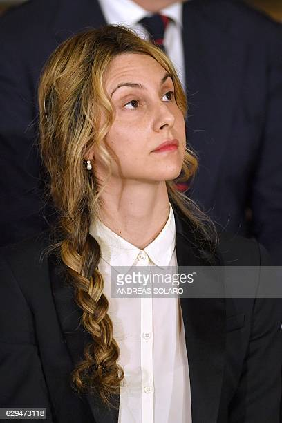 Italy's newly appointed Public Administration and Simplification Minister Marianna Madia attends the swearing in ceremony of the new government on...