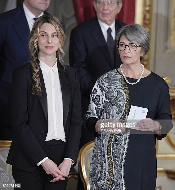 Italy's newly appointed Public Administration and Simplification Minister Marianna Madia and Minister for Relations with the Parliament Anna...
