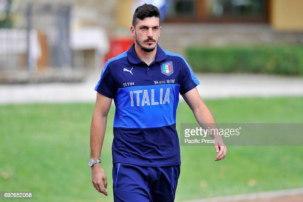 Italy's player Simone Scuffet during the training session at the Coverciano Training Center The Italian national team will face in a friendly match...