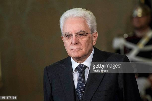 Italy's President Sergio Mattarella wait for the arrival of Polish President Andrzej Duda at the Quirinale Palace