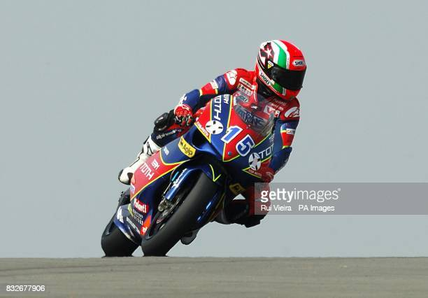 Italy's Roberto Locatelli during the 250cc race