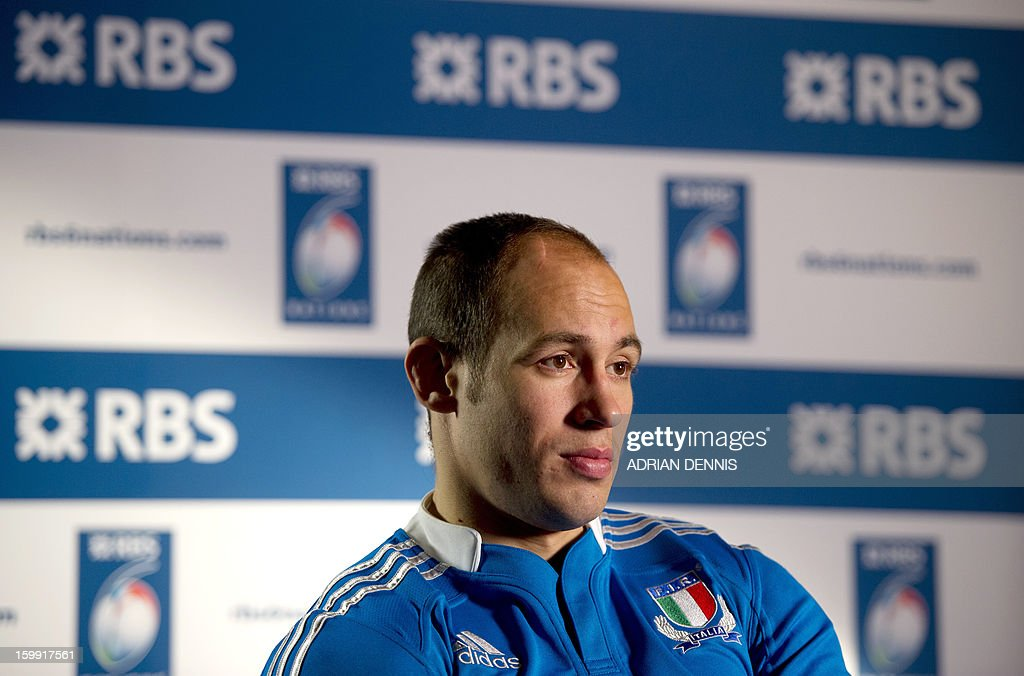 Italy's rugby captain Sergio Parisse is pictured during an interview at the official launch of the 2013 Six Nations International rugby tournament at the Hurlingham Club in London on January 23, 2013. The tournament kicks-off February 2 with Wales versus Ireland.