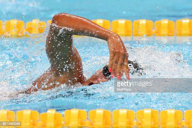 Italy's Simona Quadarella competes in a women's 1500m freestyle heat during the swimming competition at the 2017 FINA World Championships in Budapest...
