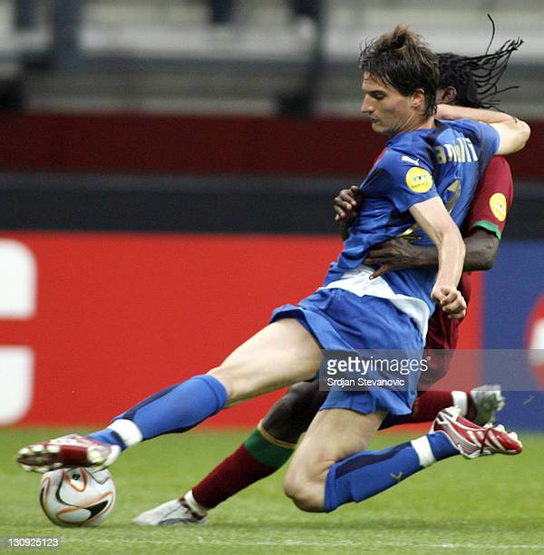 Italy's soccer player Marco Andreolli in action during their Olympic 2008 qualifying soccer match at the Goffert stadium in Nijmegen The Netherlands...
