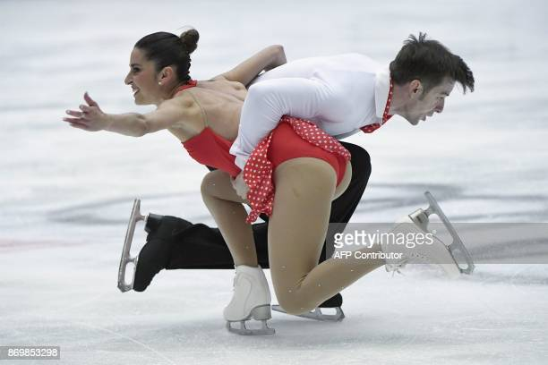 Italy's Valentina Marchei and Ondrej Hotarek perform in the Pairs Short Program as part of the Cup of China ISU Grand Prix of Figure Skating in...