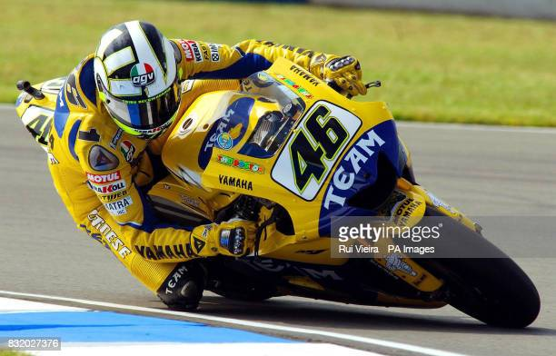 Italy's Valentino Rossi in action during free practice at Donnington Park ahead of the British Moto GP on Sunday