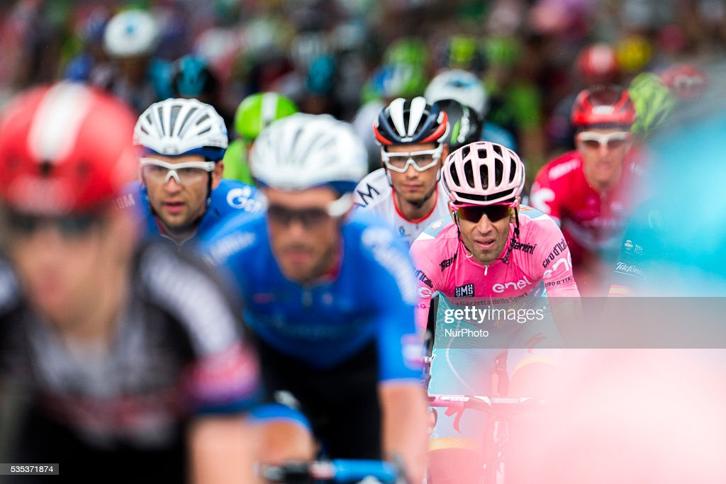 Italy's <a gi-track='captionPersonalityLinkClicked' href=/galleries/search?phrase=Vincenzo+Nibali&family=editorial&specificpeople=770634 ng-click='$event.stopPropagation()'>Vincenzo Nibali</a> of team Astana rides during the 21th stage of the 99th Giro d'Italia, Tour of Italy, from Cuneo to Turin on May 29, 2016. Astana's <a gi-track='captionPersonalityLinkClicked' href=/galleries/search?phrase=Vincenzo+Nibali&family=editorial&specificpeople=770634 ng-click='$event.stopPropagation()'>Vincenzo Nibali</a> secured his second Giro d'Italia triumph on Sunday after topping a dramatic 99th edition that saw key rival Steven Kruijswijk agonisingly crash during the final stages.