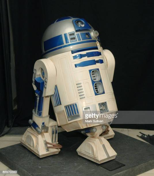 R2D2 item on display at the press preview for Michael Jackson's Julien's Auctions Exhibit on April 13 2009 in Beverly Hills California