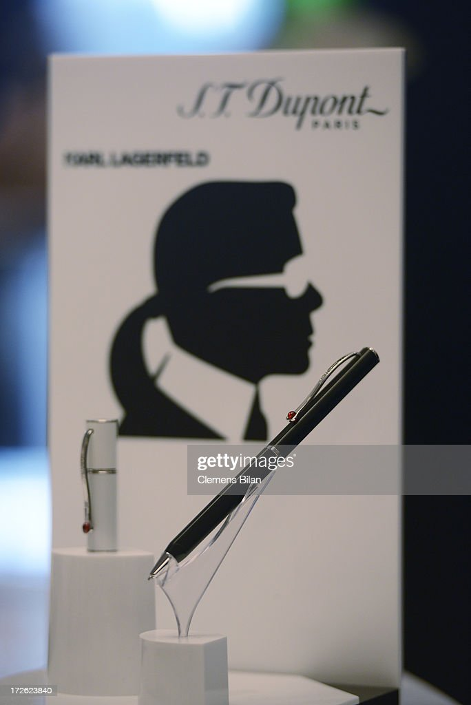 Items are displayed during the S.T. Dupont Show at Hotel Adlon on July 4, 2013 in Berlin, Germany.
