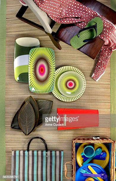 Picnic Basket from Pier One Imports $4000 Striped Mary Jane Bag from Clover for $1000 Flower Pot from Target for $499 Havaianas Surf Bamboo Thongs...