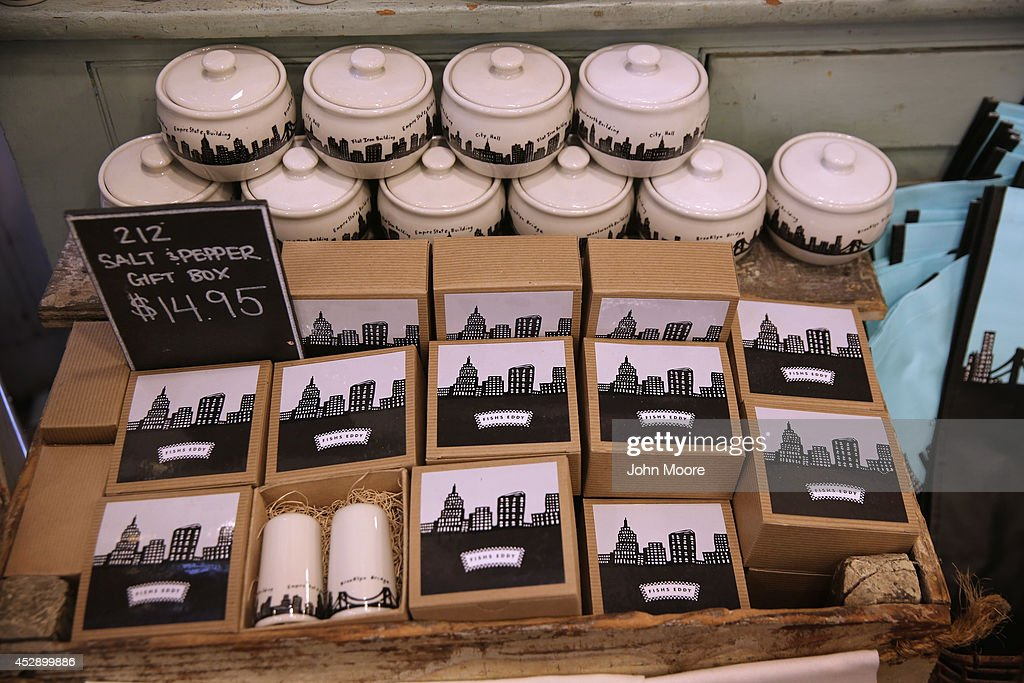Items from the '212 New York Skyline' collection sit on a display shelf at Fishs Eddy, a well-known housewares store on Broadway and 19th St. in Manhattan on July 29, 2014 in New York City. The Port Authority of New York and New Jersey has accused the shop of 'unfairly reaping a benefit from an association with the Port Authority and the attack' of September 11. The Authority has asked the store to stop selling anything with these 'assets' on them, such as the Twin Towers, One World Trade Center and the Lincoln and Holland tunnels.