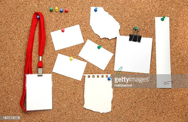 Items on noticeboard