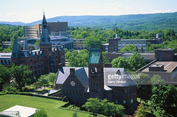 Ithaca, NY, Aerial view of Cornell University