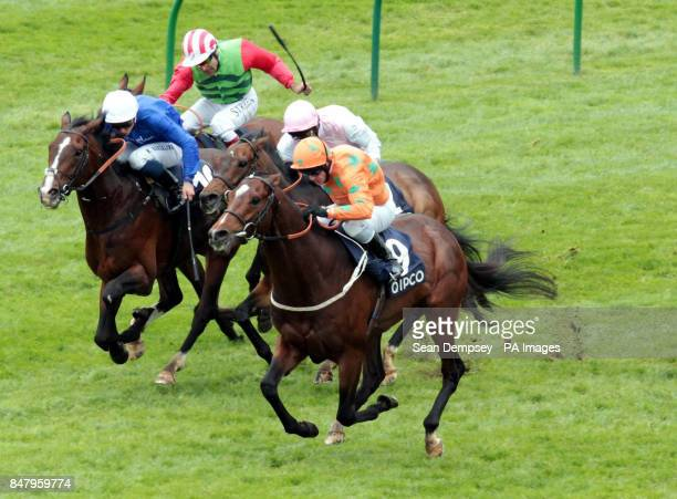 Ithoughtitwasover ridden by jockey Kieren Fallon go on to win the Qipco Supporting British Racing Handicap during the QIPCO 1000 Guineas Day at...