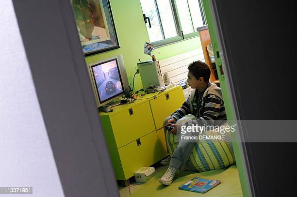 Itinerary Of Children With Transplants Rebirth In Chatou France On September 20 2008 Philippe in his room engages in activities of his age including...