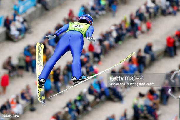 Ito Yuki of Japan takes 3rd place during the Women's HS 96 at the FIS Grand Prix Ski Jumping on August 11 2017 in Courchevel France