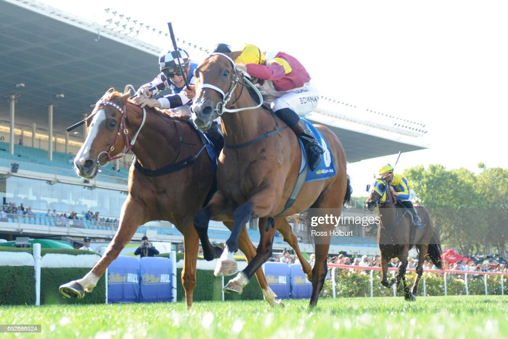 It's a Silvertrail (GB) ridden by Beau Mertens wins the McMahonâs Dairy Handicap at Moonee Valley Racecourse on March 13, 2017 in Moonee Ponds, Australia.