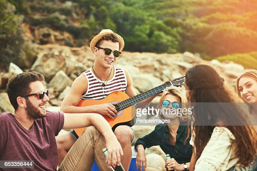 It's always a pleasure to play for you guys : Stock Photo