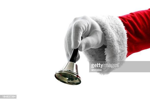 It's Christmas Time! Santa Claus Ringing a Bell