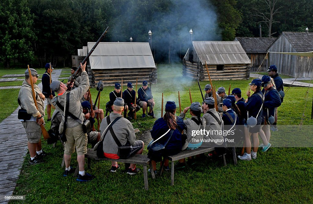 It's early morning on the second day of Civil War camp and many of the participants are having a tough time getting going as they had little sleep...