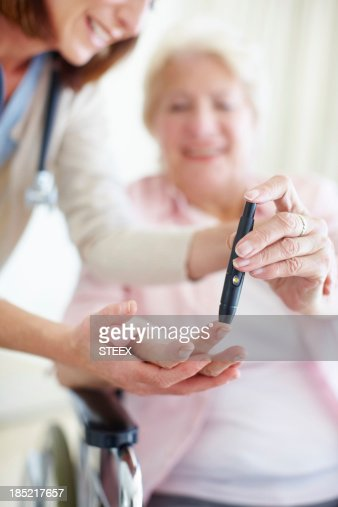 It's easy to check your blood-sugar levels - Diabetes/Senior Care