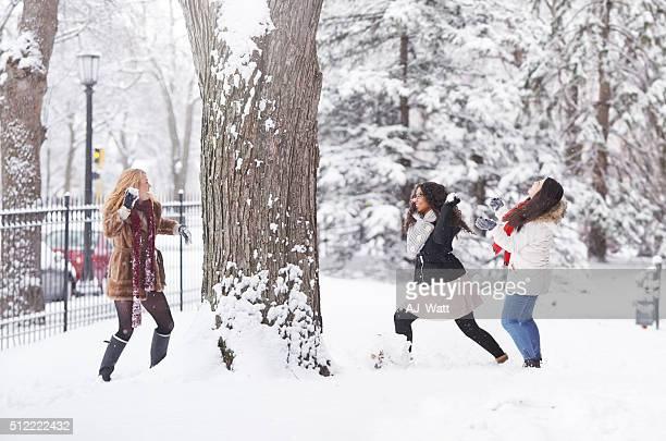 Le gel à l'extérieur, mais il y a toujours du temps pour se divertir