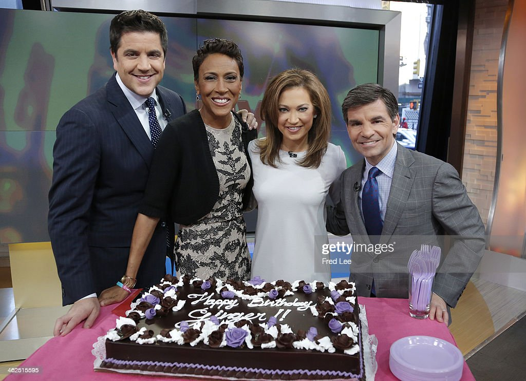 AMERICA - It's Ginger Zee's birthday on 'Good Morning America,' 1/13/14, airing on the ABC Television Network. STEPHANOPOULOS