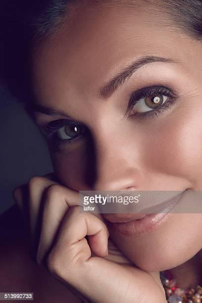 Sie ist in den Augen