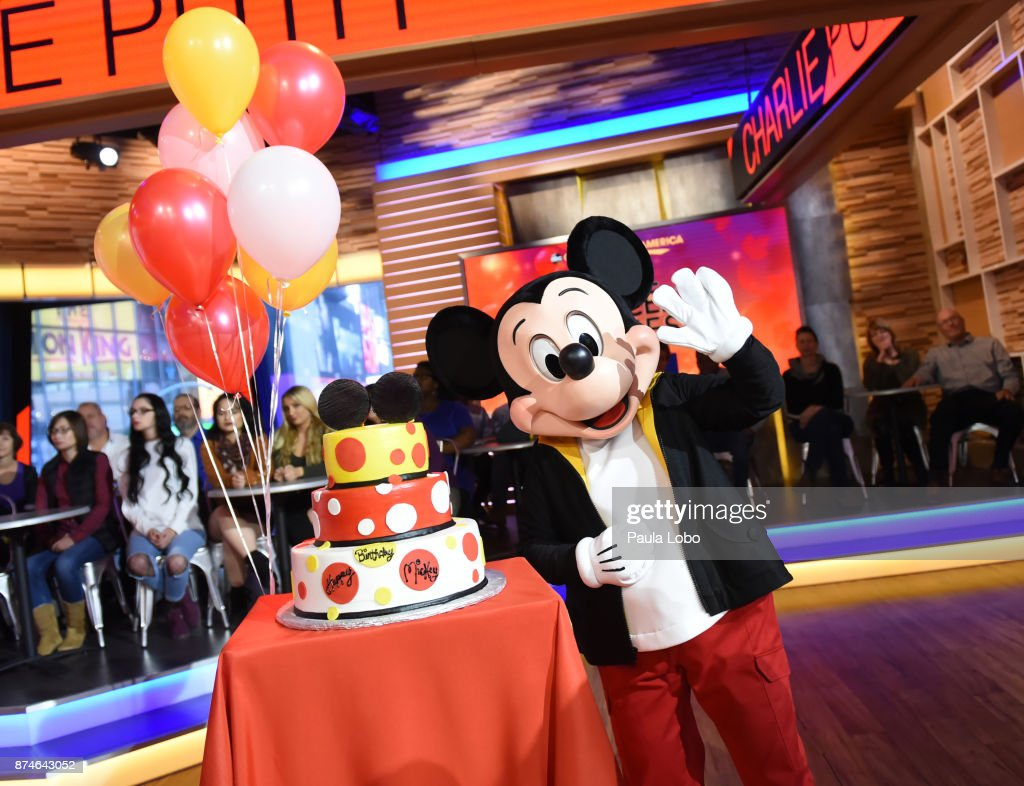 AMERICA - It's Mickey Mouse's birthday on 'Good Morning America,' Wednesday, November 15, 2017, airing on the ABC Television Network. MICKEY