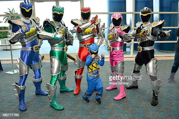 It's Morphin Time for a young Power Rangers fan who Unleashes the Power alongside the new Power Rangers Dino Super Charge during San Diego ComicCon...