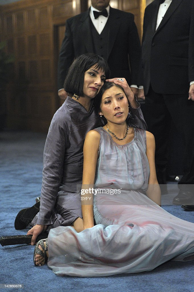 HUMAN -- 'It's My Party and I'll Die if I Want To' Episode 213 -- Pictured: (l-r) Deena Aziz as Mother, <a gi-track='captionPersonalityLinkClicked' href=/galleries/search?phrase=Dichen+Lachman&family=editorial&specificpeople=646177 ng-click='$event.stopPropagation()'>Dichen Lachman</a> as Suren --