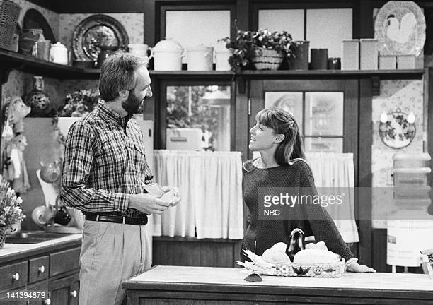 TIES 'It's My Party part 2' Episode 30 Aired Pictured Michael Gross as Steven Keaton Tracy Pollan as Ellen Reed Photo by NBCU Photo Bank