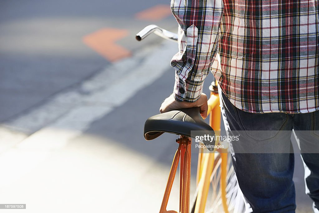 It's only way to get around the city : Stock Photo