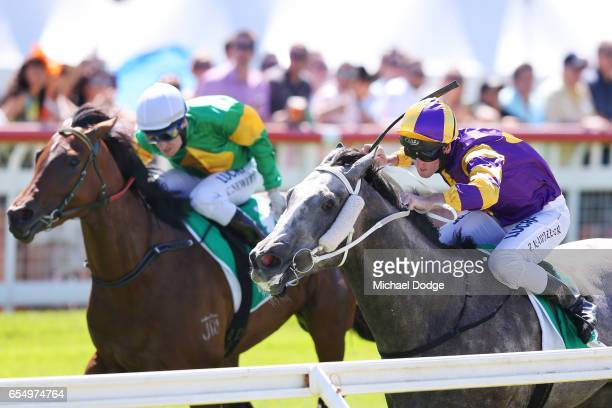 It's Pa ridden by Brad Rawiller wins the Robert Rose Plate at Yarra Valley Racecourse on March 19 2017 in Yarra Glen Australia